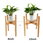 Plant Adjustable Plant Stand 2020 Hot Adjustable Bamboo Wooden Plant Stand Holder Potted Plant Rack For Indoor Outdoor-Easy Assembly