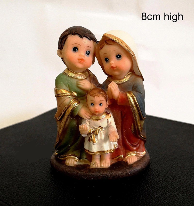 In Stock Resin Holy Family Nativity Set Catholic Religious Statue Jesus Figurine