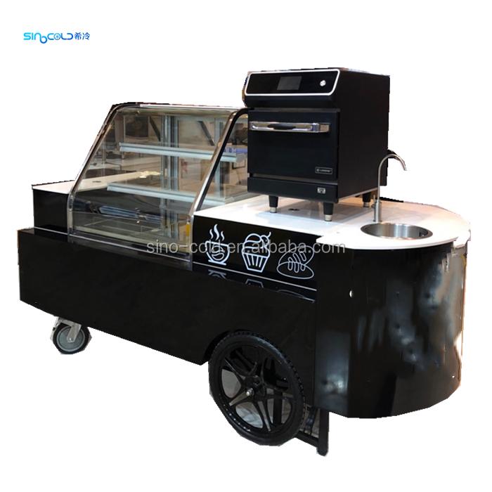 ハンドプッシュ屋外商業携帯アイスクリームカートアイスクリームマシン