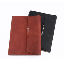 A5 Leather daily planner diary notebook with Metal Rings Binder