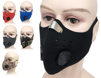 Cycling Earloop type reusable fabric reusable face cover filter mouth muffle anti pollution dust face muffle with Breathing