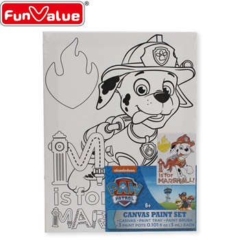 One coloring printing cheap small drawing canvas
