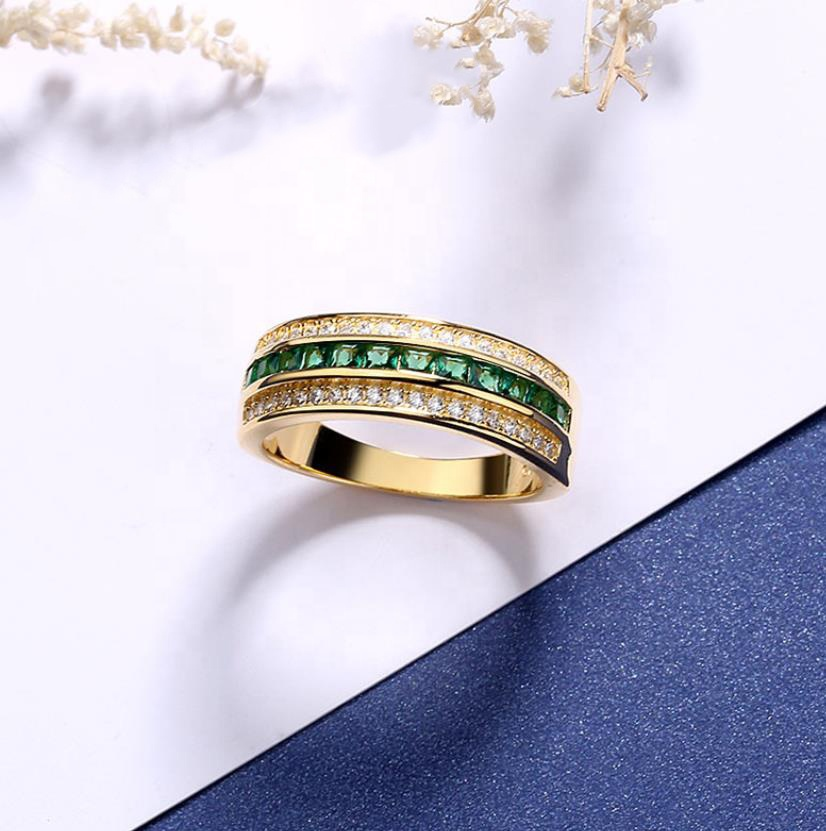 product-BEYALY-Classic 925 Silver High Quality Gold Ring For Men-img