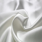 Custom Natural Color 100% Silk Satin Fabric Nature White for Clothing