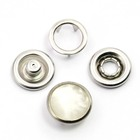 Supply five prong snap button ring shape 9.5mm with pearl prong snap button