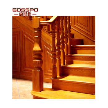 Villa Interior Antique Wood curved Stair