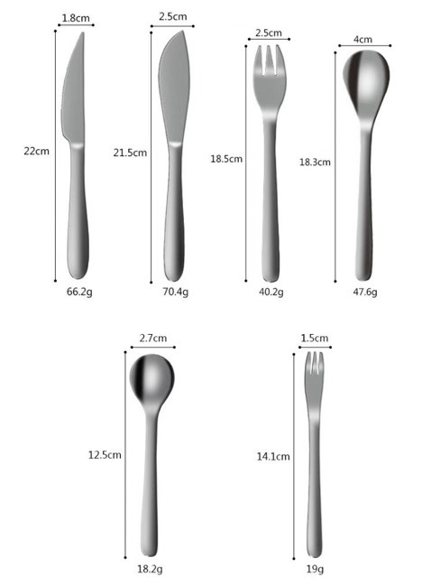 Japan Style Stainless Steel 304 Kitchenware Per Kg Flatware Cutlery Kitchen Set Best Selling Products Home Decoration
