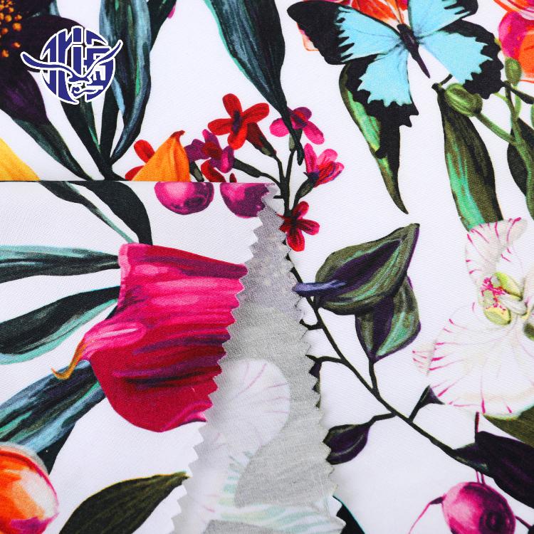 Toptan çiçek desenleri hawaii tarzı dijital baskılı kumaş stok lot % 100% pamuklu tekstil