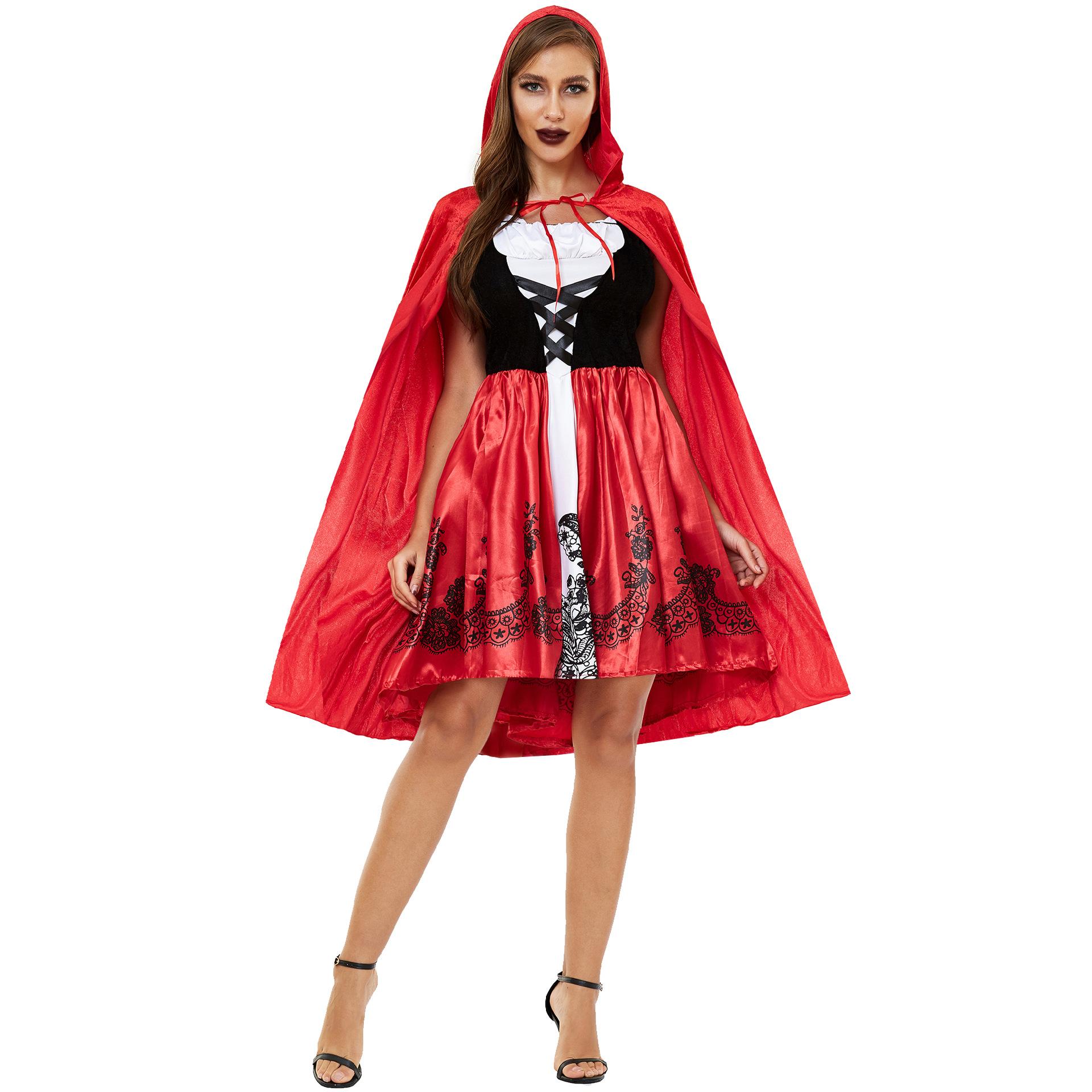 Grimms Märchen Klassische Charakter Die Rotkäppchen Halloween Cosplay halloween kostüme erwachsene