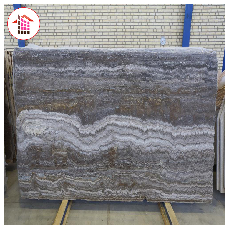 Natural Grey marble stone Silver grey travertine