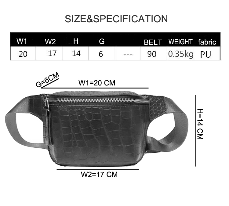 Classical Crocodile Parrent Waist Packs Fashion Leather Italian Alligator Sheepskin Bum Bag Women Fashion Waist Bag