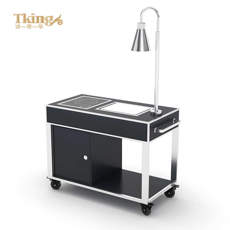 Wholesale price custom stainless steel hotel restaurant food service trolley for hotel