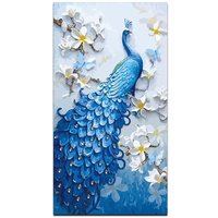 chenistory DZDP825 Peacock diamond painting art diamond mosaic painting Full Square Drill Diamond Painting cuadros decorativos