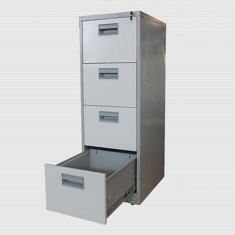 Knock Down Office Furniture 4 Drawers Stainless Ducoment Storage File Cabinet Metal Cabinets Funky Drawer Lockable