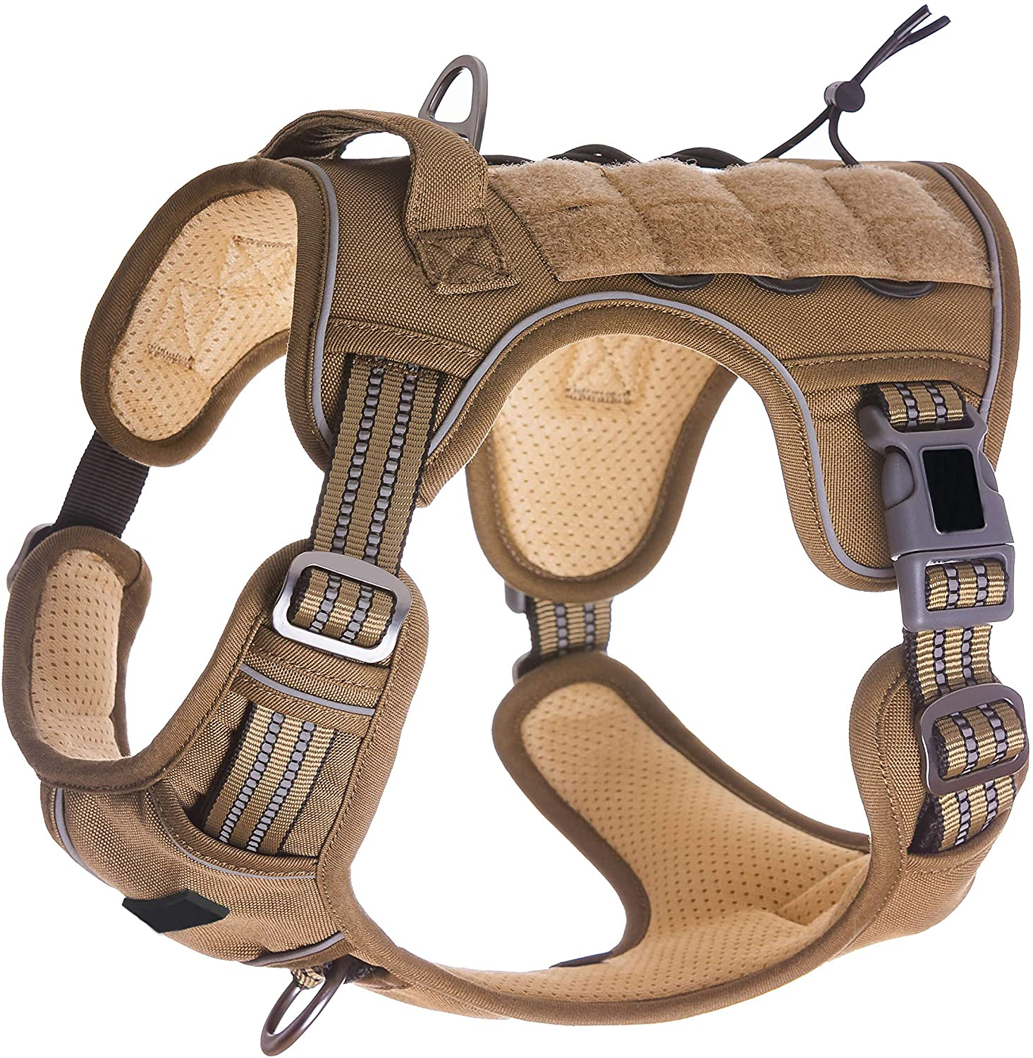Tactical Dog Training Harness No Pulling Front Clip Leash Reflective  Pet Working Vest Easy Control Large dog harness