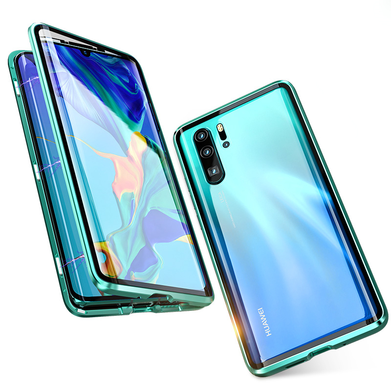 2019 magnetic adsorption metal case for huawei p20 p30 lite pro,for huawei p20 lite magnetic case <strong>phone</strong>
