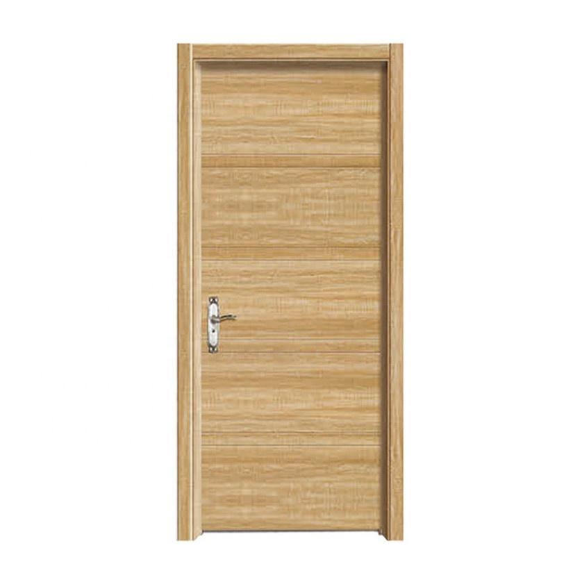 Modern Black Walnut Solid Wood Door Design Swing Wooden Room Interior Wooden Door with frames and accessories