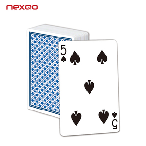 Durable 54pcs golding 300gsm paper playing poker card