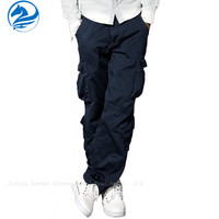 casual cargo pants with side pockets for men