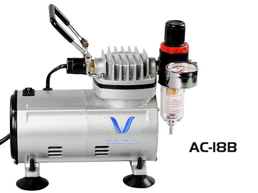 LinhaivetA arte máquina de escova de ar pistola kit compressor airbrush conjunto prego mini bolo
