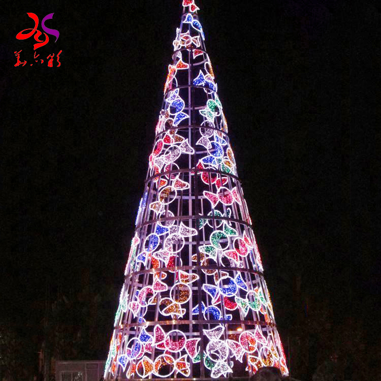 2020 Newest design led rgb lighting program with music giant large pvc Christmas tree china suppliers