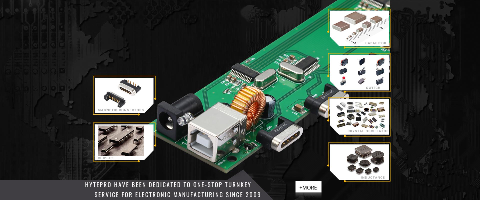 7port usb 2.0 hub ve usb ethernet i/o adaptörü elektronik parçalar pcb