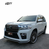 Plastic material E style body kit for 2018 Toyota land cruiser front bumper rear bumper for land cruiser facelift