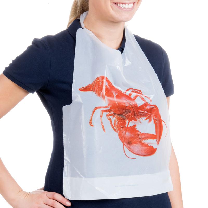 الترويجية الكبار مطعم المتاح البلاستيك جراد البحر مريلة