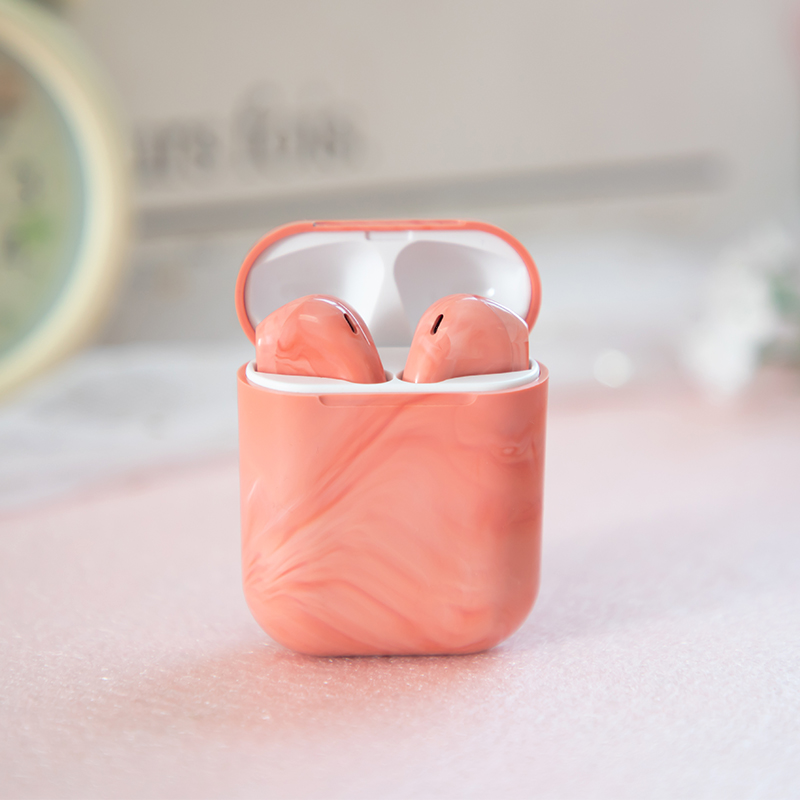 Ins Hot Marble Swirl Earbuds  TWS Wireless Earphone & Headphone Bluetooths 5.0 Stereo Touch Sport Earbuds