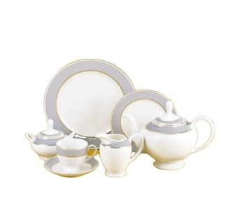 factory supply new design cheap price 24pcs new bone china tea /coffee set for home