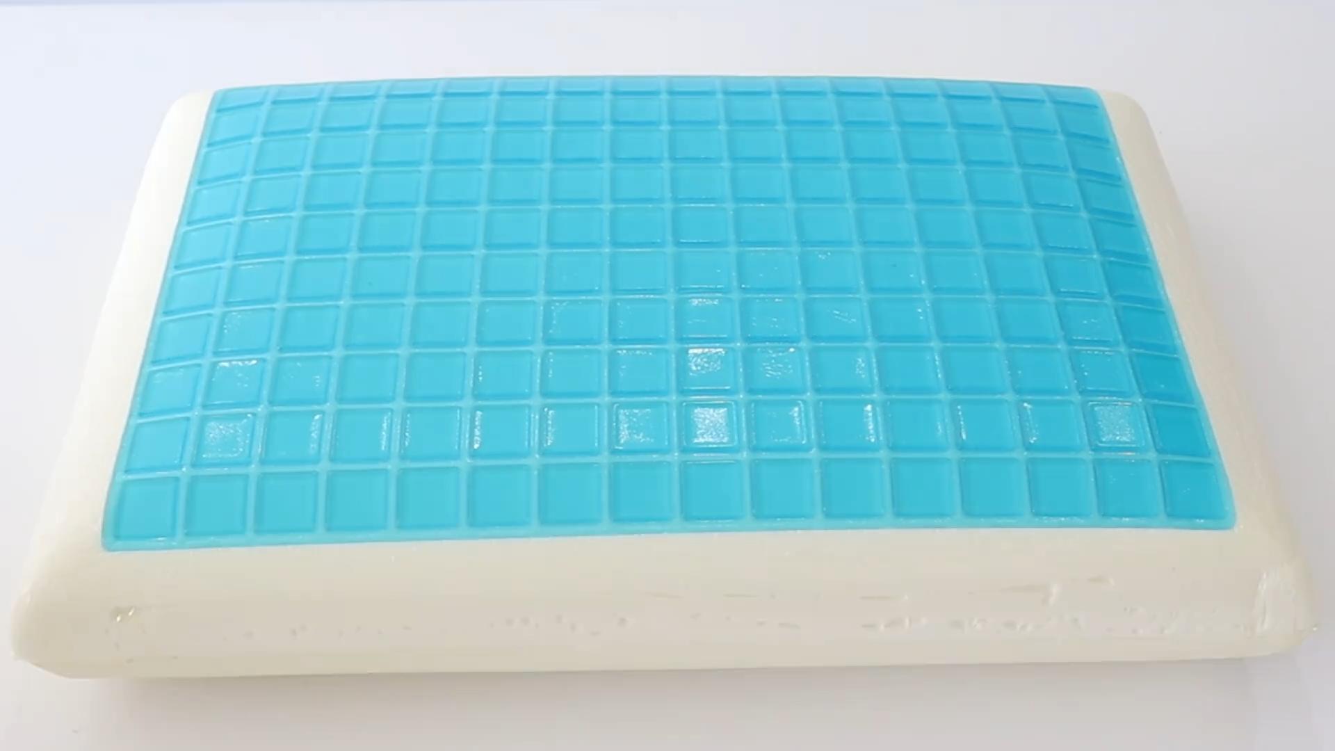 Cool Gel Omkeerbare Gel En Memory Foam Bed Kussen Gel Cooling Memory Foam Kussen Voor Slapen Koel Met Wasbare Ritssluiting cover