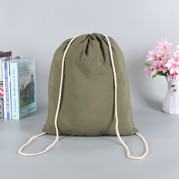 Olive  travel  backpack large capacity drawstring bag unisex waterproof nylon sports bag