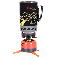1.4L Camping Stove Cooking System, Propane Burner Outdoor Hiking Backpacking Camp Stove, Portable Gas Stove Burner