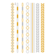 Mode Aangepaste gold tattoo sticker metallic tattoo