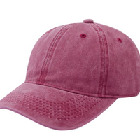 hot sale butterfly applique cotton twill washed baseball cap style vintage dad hats