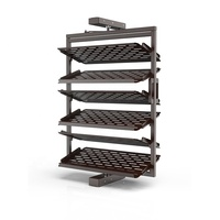 Multifunctional Shoes Rack Wall Mount Stainless Steel 4-layers Rotatable Storage Large Capacity Shoe Rack