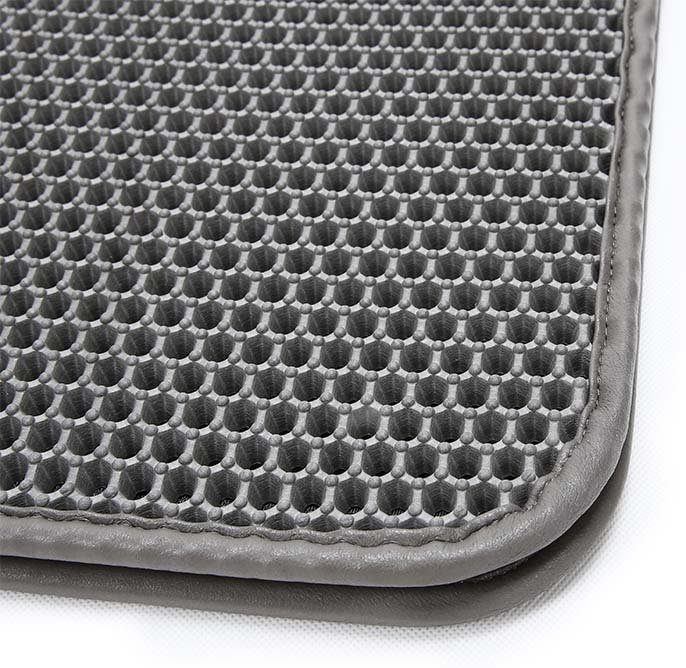 Customize OEM Non-Slip Easy Clean Foldable EVA Material Leather <strong>Edge</strong> Cat Litter Mat