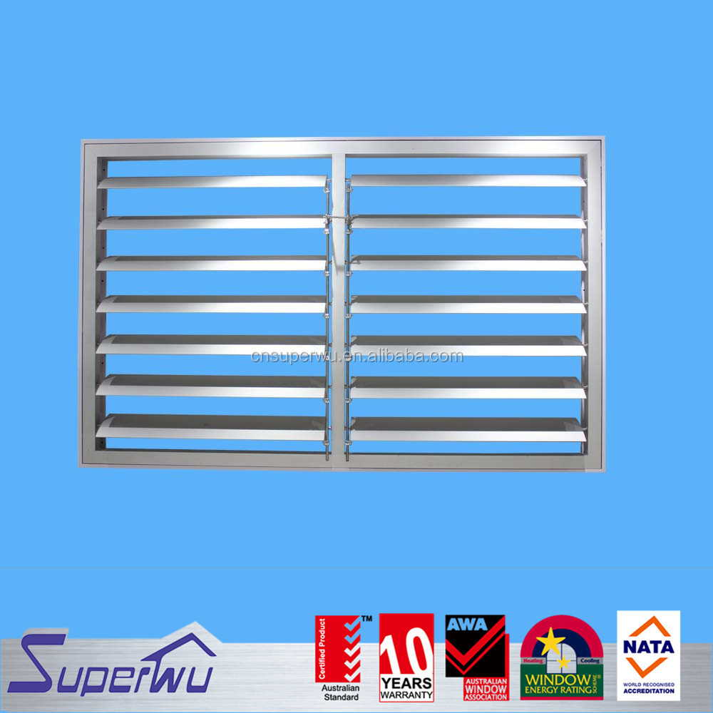 Aluminium External Shutters With Security Mesh Power Electric