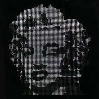 Custom Crystal Stone Design American Girl's Rock Marilyn Monroe Iron On Transfers Design For T shirt