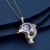 Three Dimensions Purple Zircon Accessories Stainless Steel Jewelry Necklace