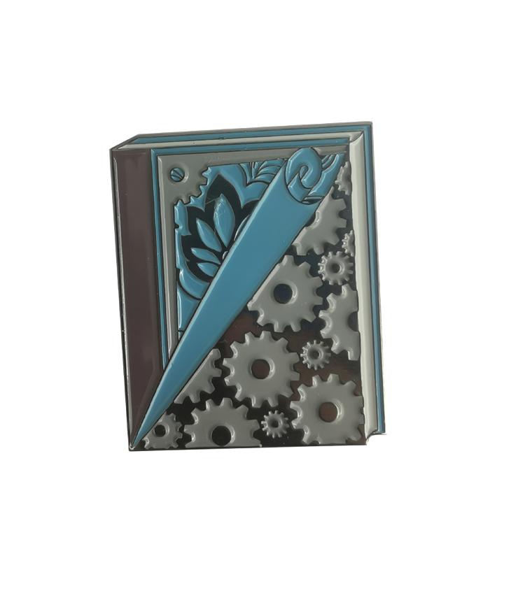 BTS Spinner Enamel Pin Metal Glitter Lapel Pin