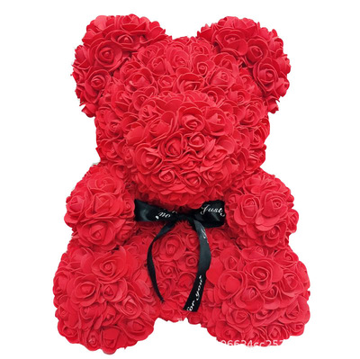 40 cm Beliebte und Premium Großhandel Schaum/PE Rose Teddybär für Valentinstag Geschenke