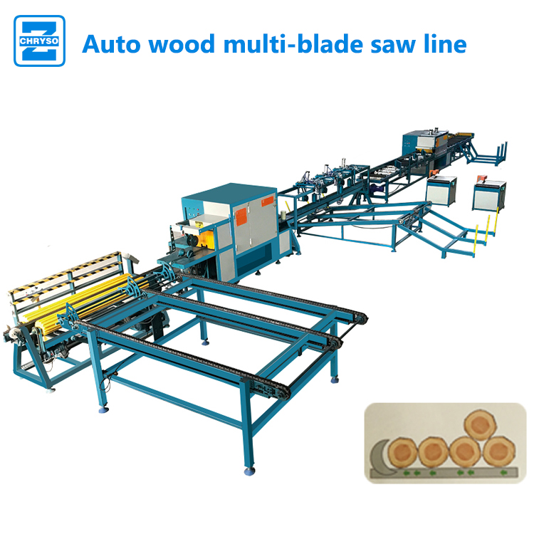 Hot Sale woodworking machinery Auto wood cutting woodworking automatic rip saw