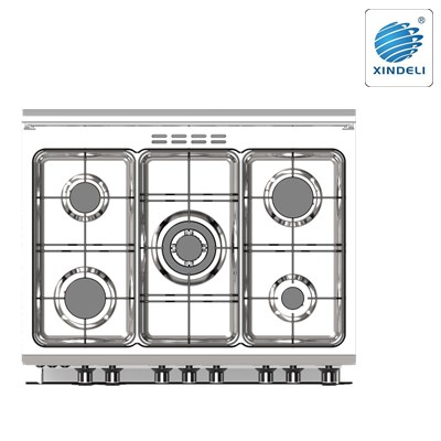 Best efficiency 800*600mm gas cooking range with 5 or 8 functions
