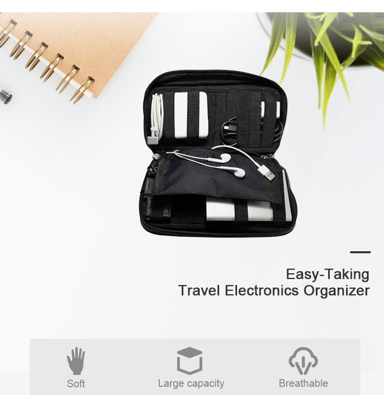 Easy-taking Travel Cord Organizer Electronics Cable Organizer Bag