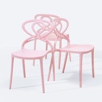 Home furniture general specific use and dining pink plastic chair