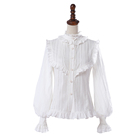 Beautiful white girls ruffle chiffon lolita blouse