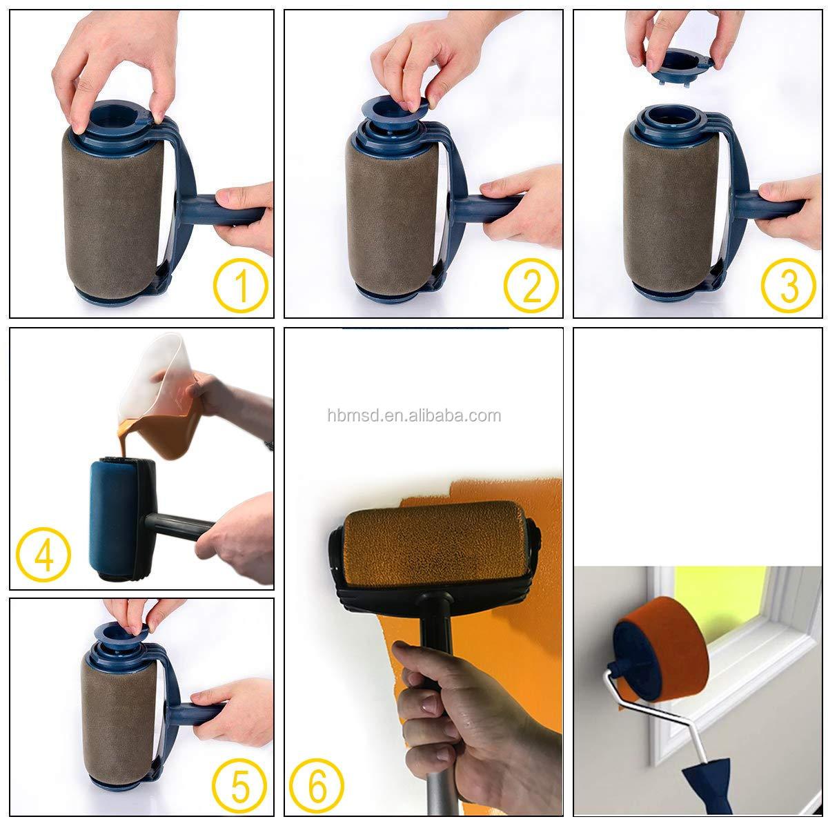 Новая популярная многофункциональная кисть «сделай сам», роликовая кисть, ручной инструмент, бытовая угловая кисть для дома, офиса, комнаты, многофункциональная настенная