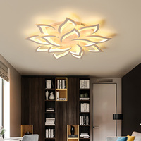 Aluminium Modern Ceiling Lights LED Indoor Home Lamp Dimmable Chandelier