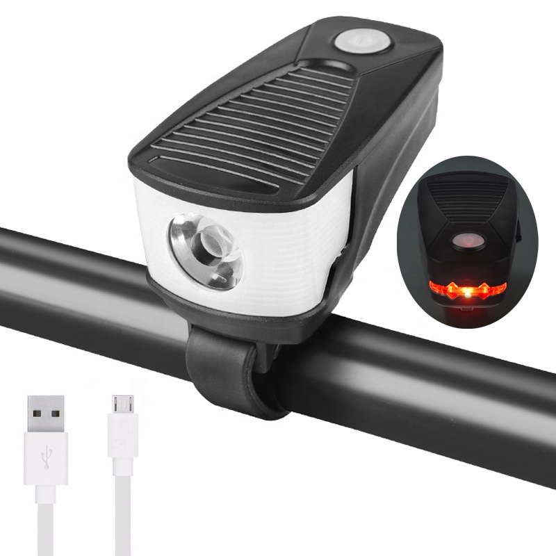 High Power USB rechargeable White red bike light Front bicycle LED lights Outdoor portable bike accessories light Cycle lamp